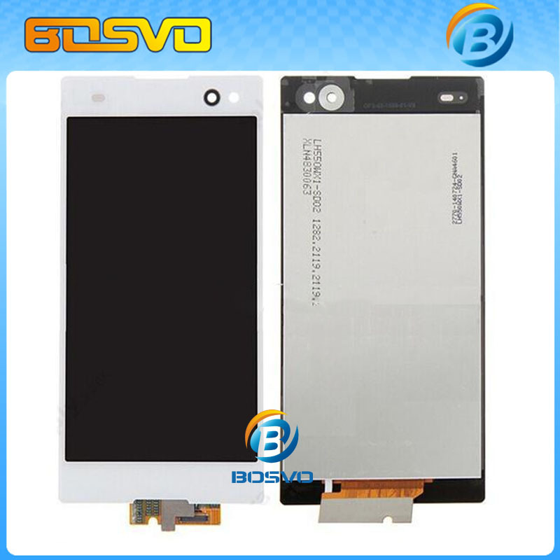 ФОТО Replacement display For Sony for Xperia C3 D2533 D2502 LCD with touch screen digitizer 5 pieces DHL EMS free shipping+tools