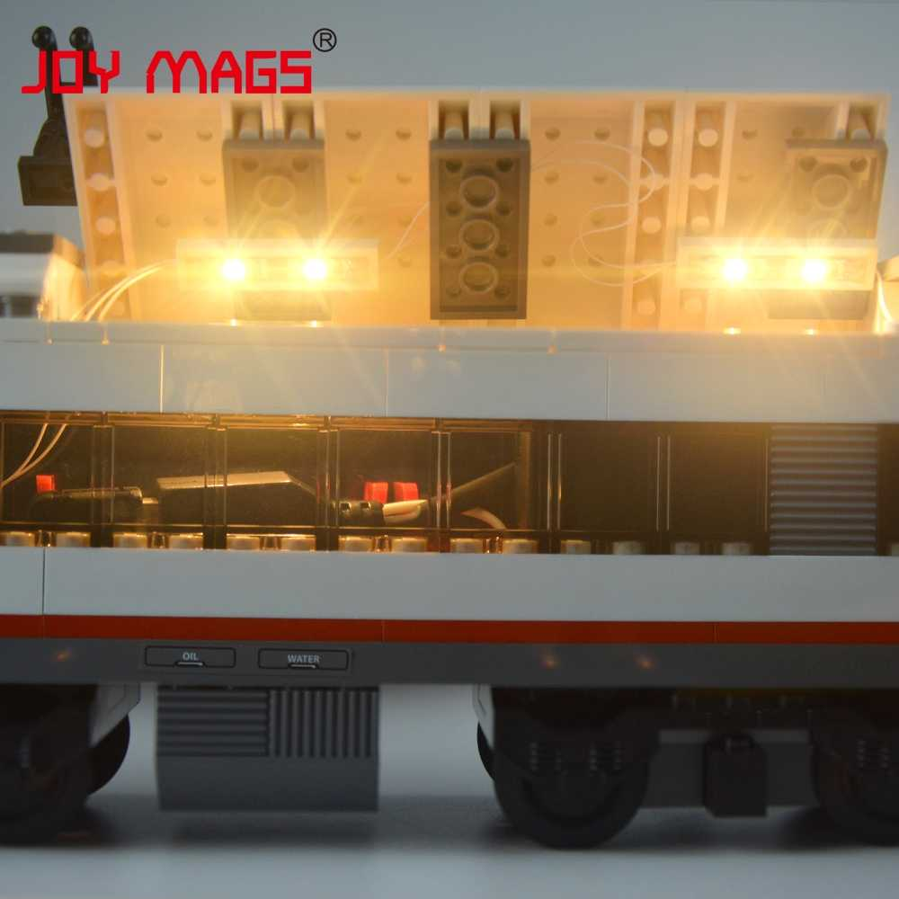 Radość MAGS tylko światło Led zestaw do kolejowych, pociągów dużych prędkości Passenge klocki kompatybilne z Model 60051