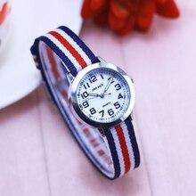 2018 famous brand hot seller children boys girls small quartz wristwatches kids students canvas electronic luminous Hands clock