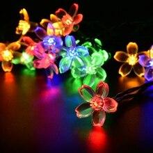 Holiday Lighting Solar Powered 4.8M 15.75FT 20 Leds Outdoor Cherry Blossoms Christams String Lights Garden Solar Light