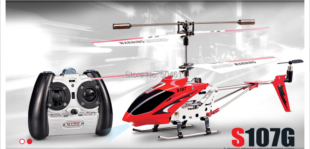 Syma S107G IR 3-channel RC Model Helikopter Remote Control Pisau Tunggal RTF