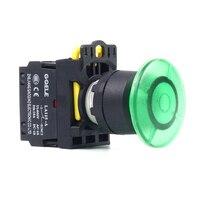 5 PCS Push button switch Mushroom button LED Momentary IP40 1NO 1NC 1N0+1NC 2NO 2NC LA115 A1 11MD R31