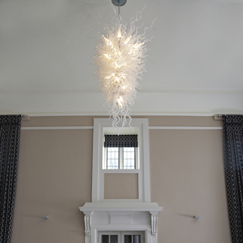 Modern White Wedding Decor Chandeliers Cheap Handmade Blown Glass LED chandelier light Fixture LR379 in Chandeliers from Lights Lighting