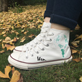 Wen Canvas Shoes Design Custom Green Globes Environmental Protection High Top White Sneakers for Christmas Gifts