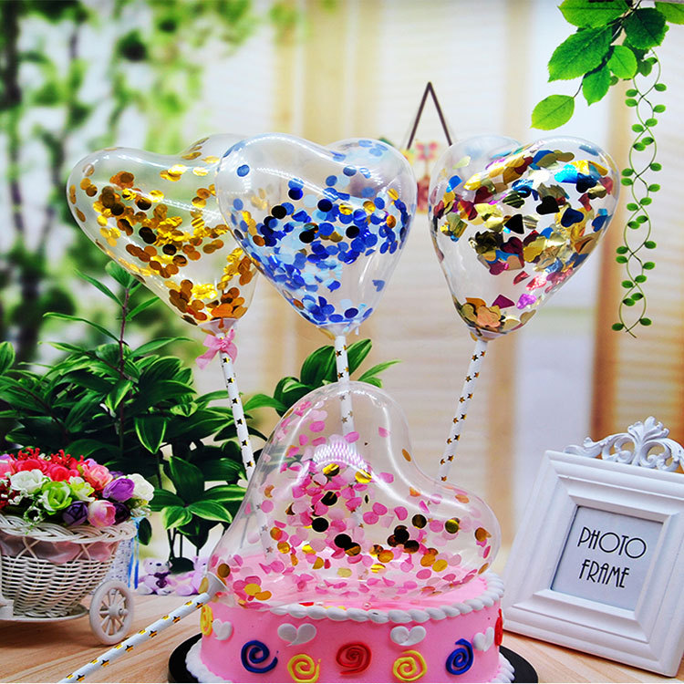 5 Inch Love Small Transparent Balloon Feather Cake Cap Birthday Special Childrens Wedding Party Decoration
