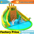 Super residential dinosaur inflatable water slide with swimming pool free shipping