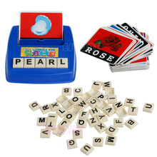 Baby Literacy Fun Game Learn English Word Puzzle Children s Educational Toys