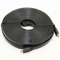 Flat Noodle Gold Plated HDMI Cable Male to Male V1.4 3D Full HD 1080P HDTV Stable Transmission 1.5M 3M 5M 10M 15M 20M