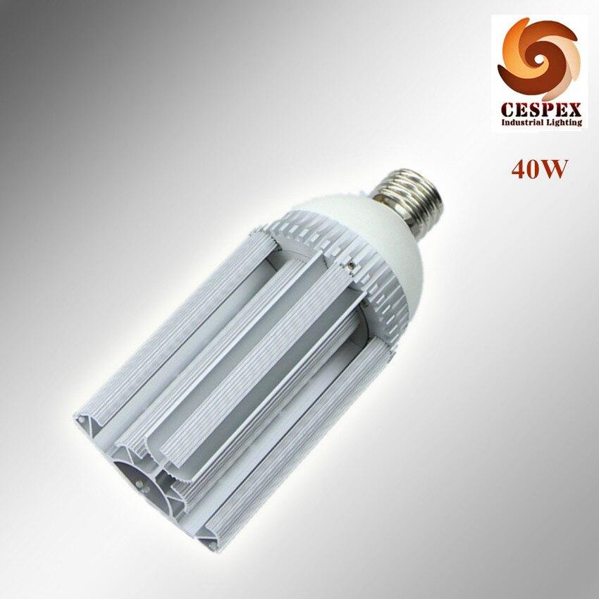 2pcs/lot Aluminum alloy body 110lm/w AC110V 220V 240V E39 E40 E27 40W LED street light bulb replace 100W metal halide lamp 2pcs lot alloy aluminum front
