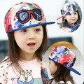 Cópia nova Moda Kis Bandeira Boné de beisebol Infantil Chapéu Do Bebê Snapback Hip Hop Ajustável Tampas Para Crianças Unissex Casual chapéus