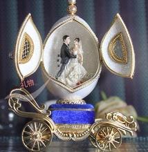 Egg musicbox creative gift present princess love girl music box musical box eggshell wedding design freeshipping