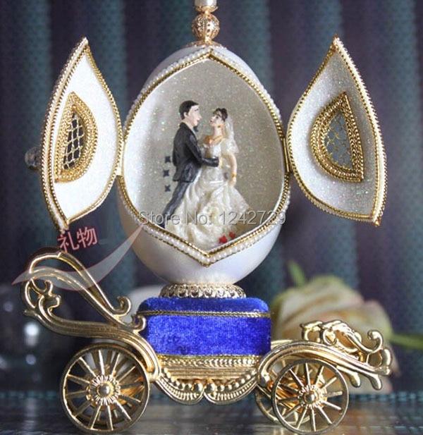 Egg musicbox creative gift present princess love girl music box - Home Decor