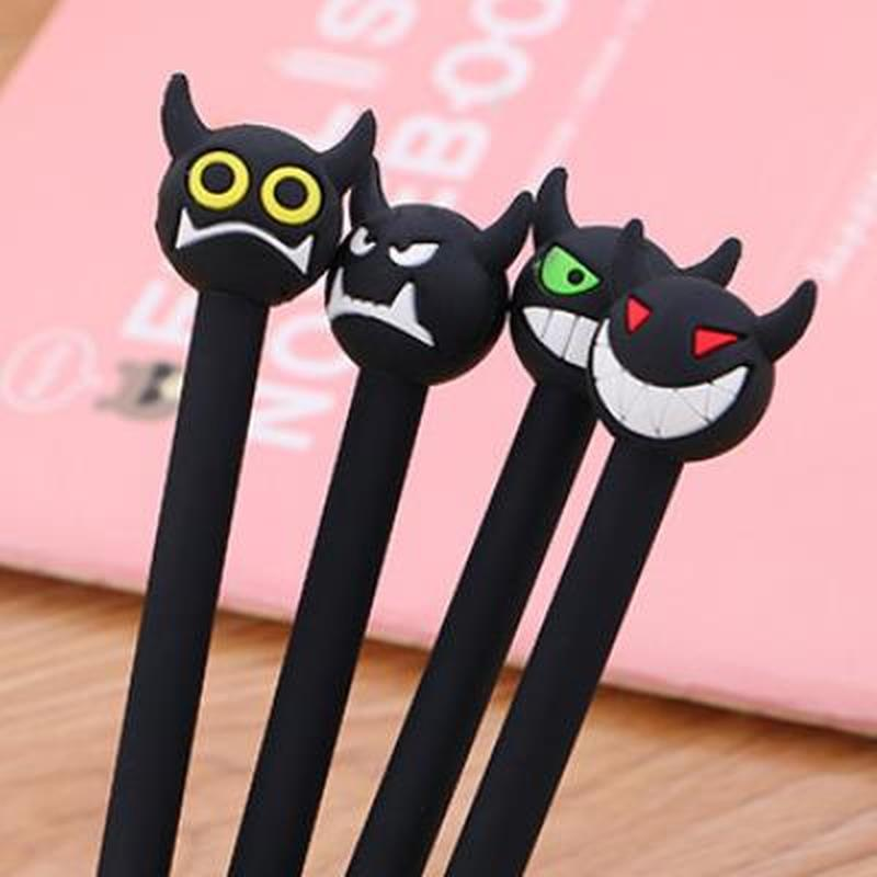 1pcs Monster Gel Pen Cute Pens 0.5mm Cute Stationary Student Kawaii Pen Novelty Black Gel Pens Kawaii School Supplies Stationary