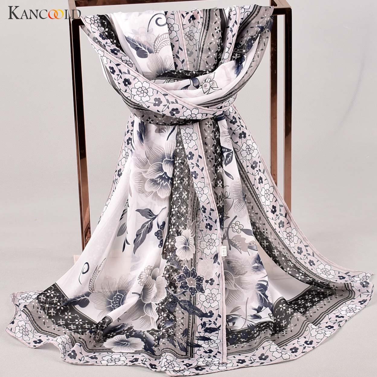 KANCOOLD Scarf Women Fashion Printed Soft Chiffon Shawl Scarf Wrap Wraps Scarves High Quality Casual Scarf Women 2018Nov5