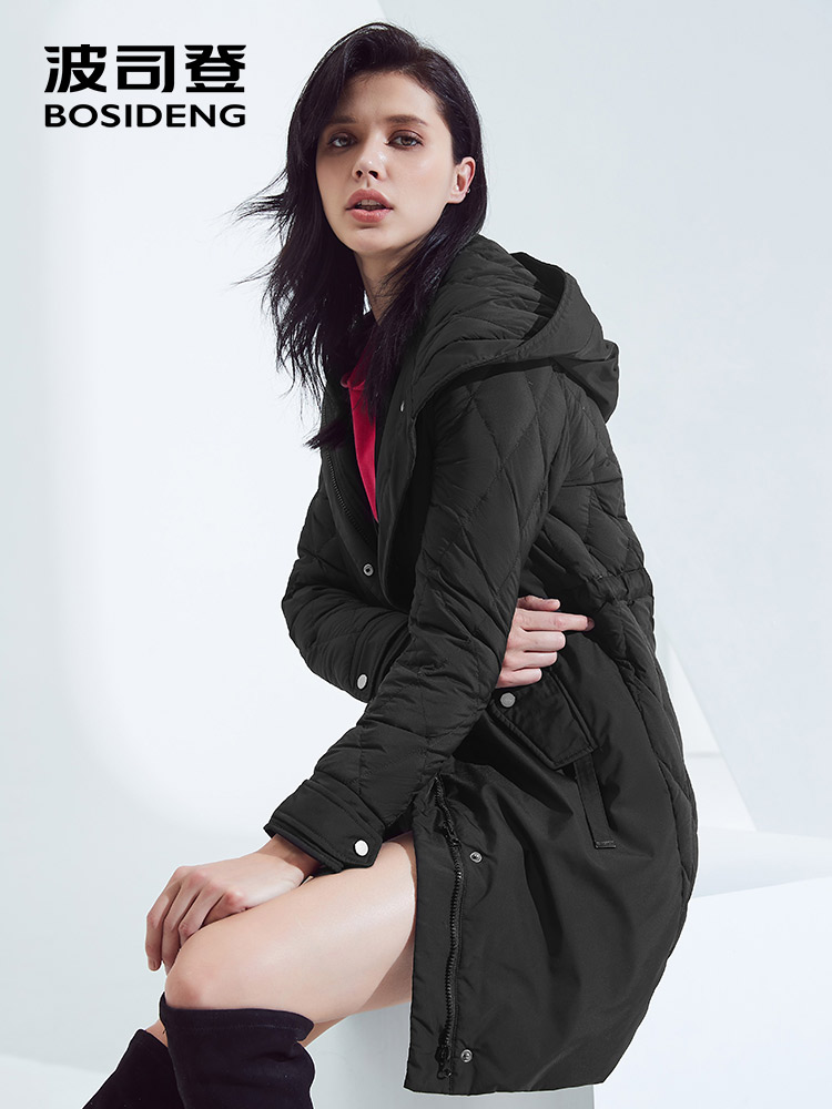 Bosideng Down Jacket Women's Long Section Autumn And Winter Casual Wild Hooded Light Windbreaker Jacket B80131132