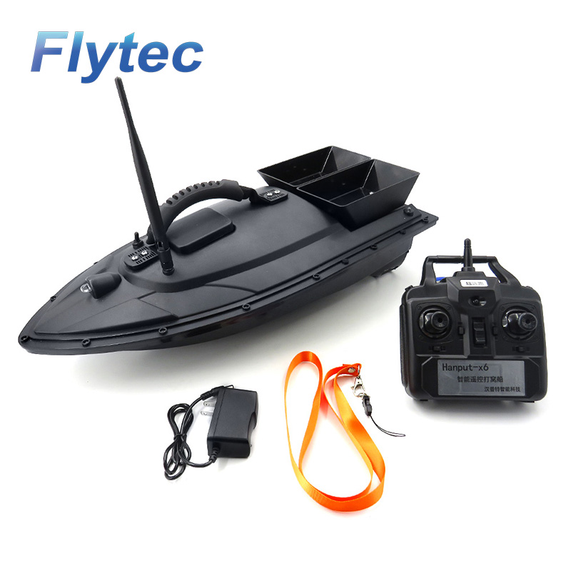 Flytec 2011-5 Fish Finder 1.5kg Loading 2pcs Tanks with Double Motors 500M Remote Control Sea RC Fishing Bait Boat with Casting