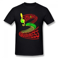 DIY Musical Note Printed Men T Shirts Singing Novetly Tees Shirts Male Fiteness Streewear Clothes