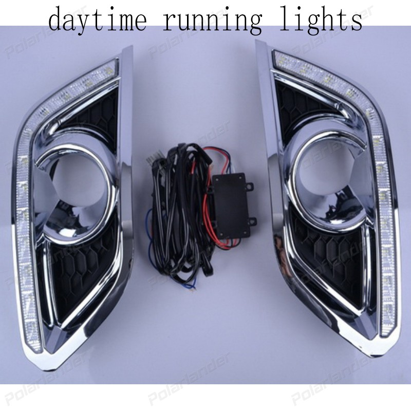1 pair drl for B/UICK E/ncore 2013-2015 yellow turn signal car accessory auto parts led daytime running light