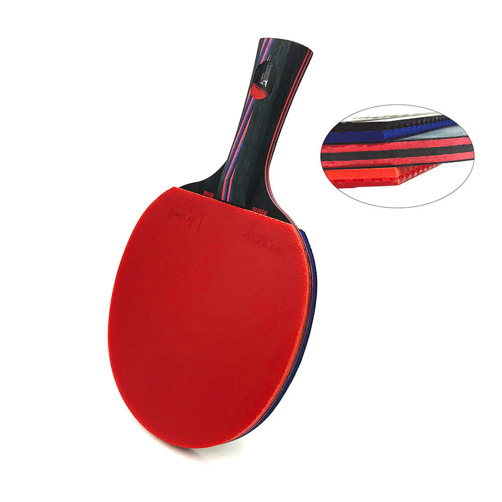 Hybrid Wood 9.8 Brand Quality Table tennis racket double face Pimples-in blue rubber Ping Pong Racket tenis de mesa