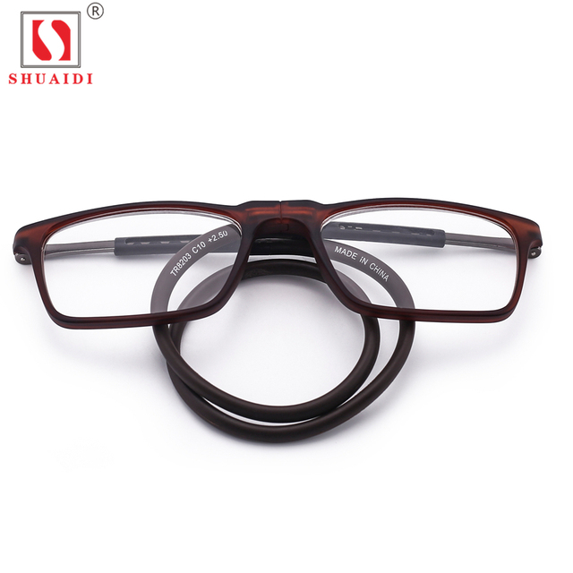 daf34ece1b5 Men Women Magnet Reading Glasses Unisex Folded Colorful Adjustable Hanging  Neck Magnetic Front Presbyopic Glasses