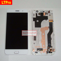 White LCD Display Touch Screen Digitizer Glass Panel Assembly With Frame For LENOVO ZUK Z1 Phone