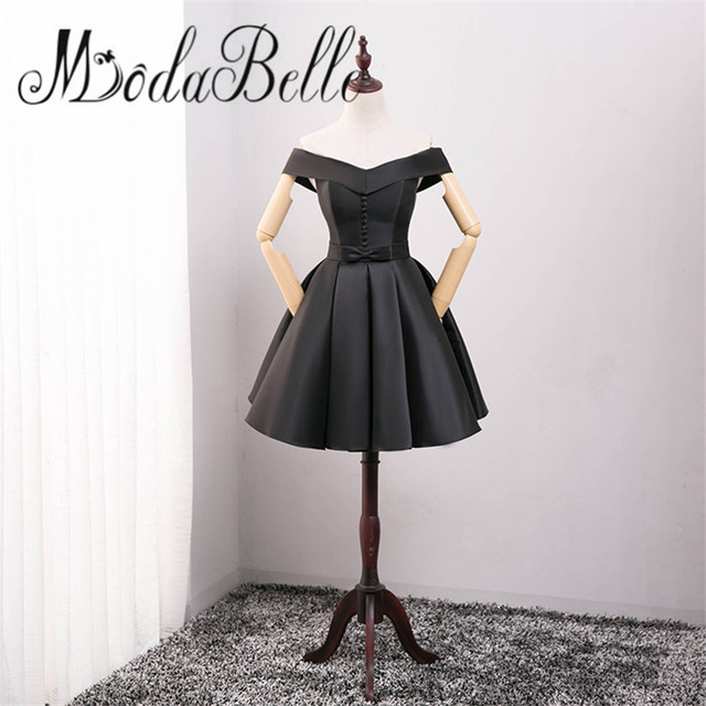 a3e7272c7001 modabelle Cheap Off Shoulder Short Homecoming Dresses Under$50 Black Semi-formal  Prom Dress Junior 8th Grade Graduation Gown