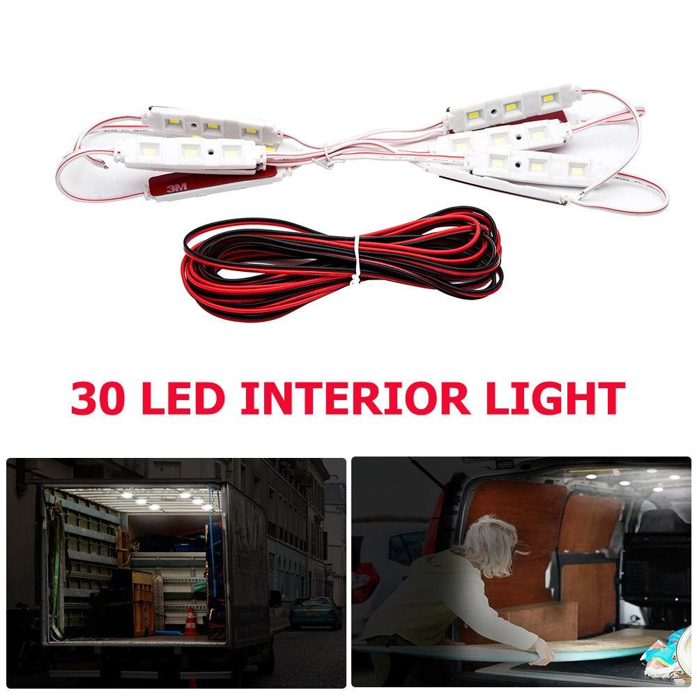 Автомобильный свет комплект Интерьер 12 В в белый 30 светодио дный LED 5630 SMD для LWB Van Sprinter Ducato Transit 14 Вт Vans лодки прицепы дачи грузовики