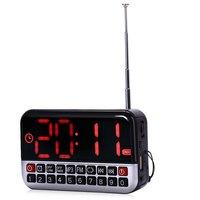 L-80 HD Lcd-scherm Draagbare multifunctionele Luidspreker Digitale LED Wekker FM Radio TF/Micro Sd-kaart MP3 Music Speaker