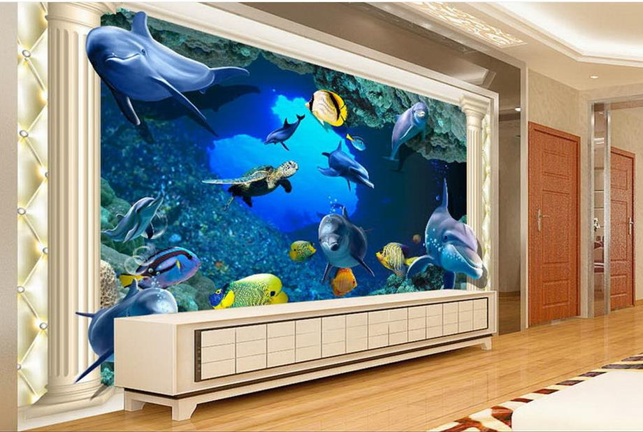customize luxury wallpaper The underwater world 3d wall murals wallpaper home decor living room photo mural free shipping 3d underwater world marine animals wallpaper children s room living room bedroom cafe wallpaper mural
