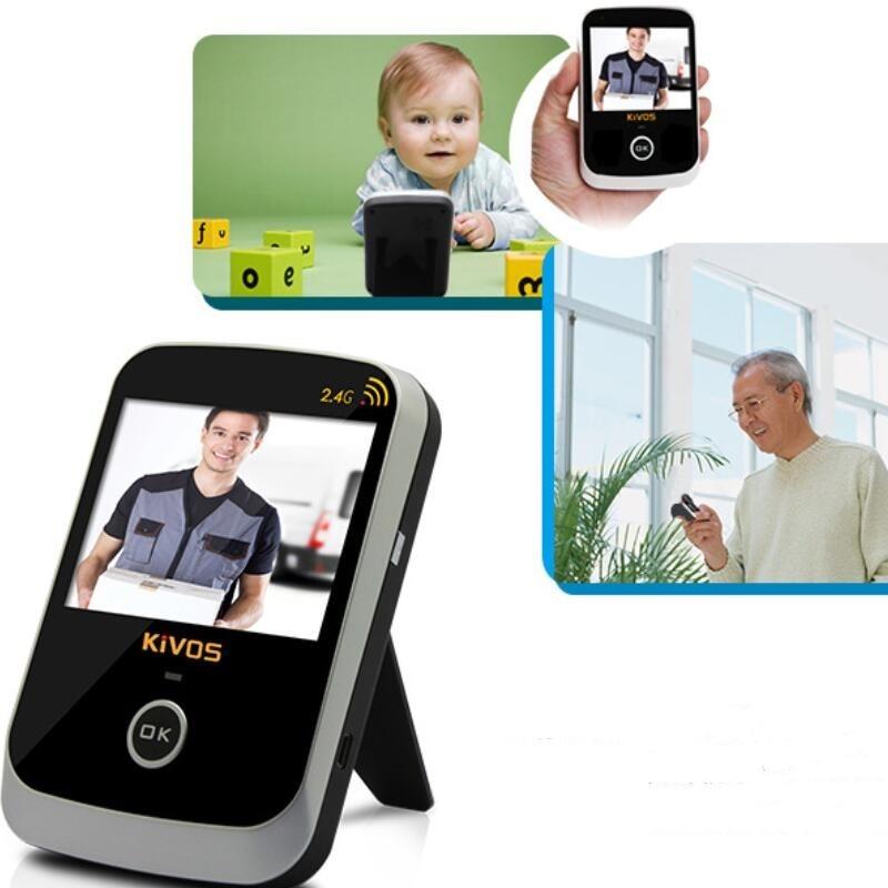 KIVOS 3.5 видеоглазок для двери ЖК-дисплей цифровой телезритель двери глаз глазок Беспроводной видео Дверные звонки Широкий формат объектив К...