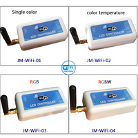 Free Shipping LED WIFI Strip Controller 2 3 4 Zone DC12V 24V Dimming Color Temperature RGB