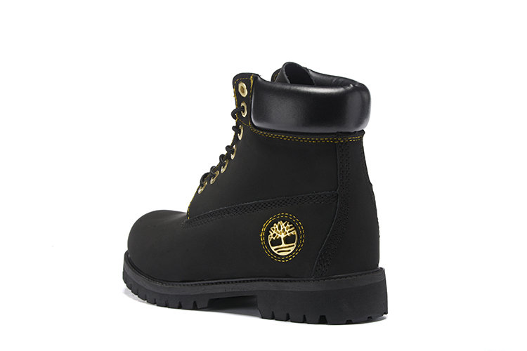 TIMBERLAND Men All Black Gold Metal Ankle Martin Motorcycle Boots,Man high-top Leather Spring Wearable Casual Walk Shoes 40-45 2