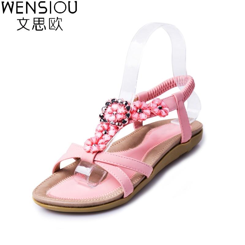 Women Sandals 2016 Gladiator Sandals Women Shoes Bohemia Flat Shoes Sandalias Mujer Ladies Shoes New Flip