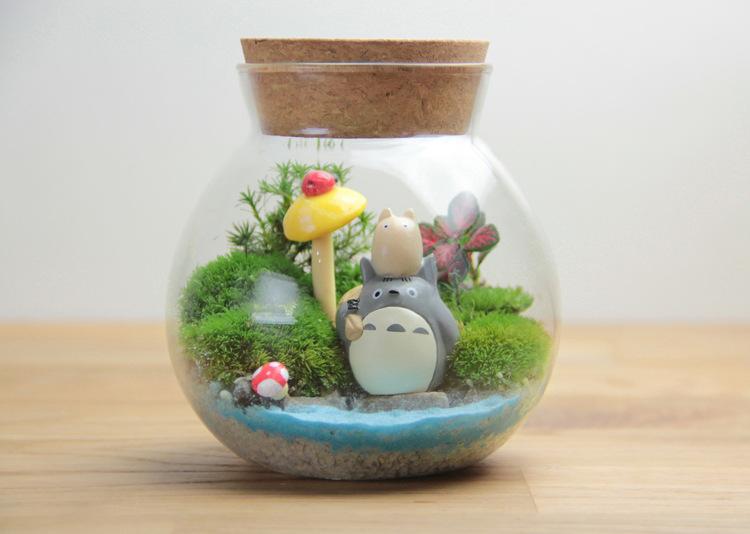 mesa florero de vidrio con tapa de tamao medio para botella de vidrio