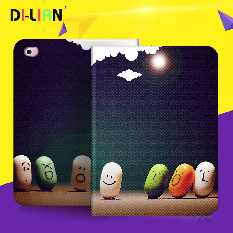 DILIAN Case For Xiaomi Mipad 1/Mipad 2 Smart Wake-up Sleep Stand Ultra-thin Folding PU Leather Flip Cover Personality DIY custom ultra thin for ipad air 2 case pu leather smart stand cover universal auto sleep wake up flip 9 7inch case for ipad air 1 2