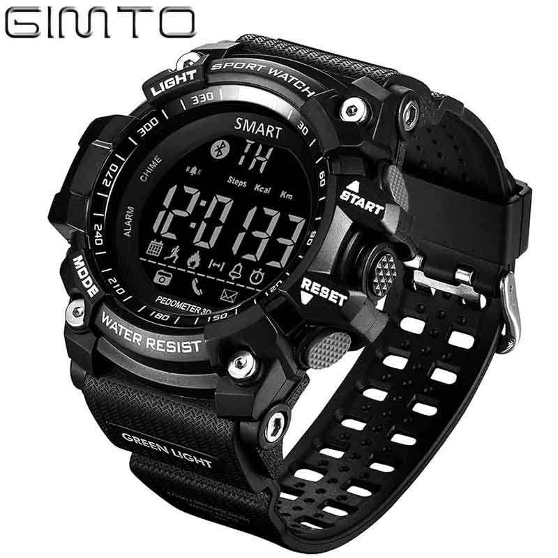 Watch men sport digital Pedometer Bluetooth Watch GIMTO Smart Pedometer Calorie Led Watches relogio masculino waterproof watch цена и фото