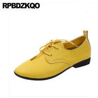 Lace Up Work 10 Large Size 42 Flats China Foldable Round Toe Designer Oxfords Chinese Wedding Shoes Women Yellow 11 Red Gray