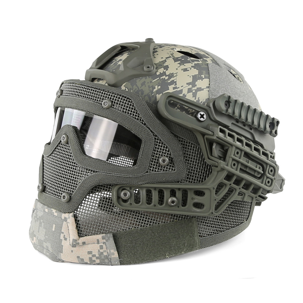 Tactical Army Military Protective Helmet Adjustable Cover Casco Helmet Face Mask WST Paintball Airsoft Hunting Accessories tactical army military helmet cover casco airsoft helmet accessories face mask helmet emerson paintball fast jumping protective
