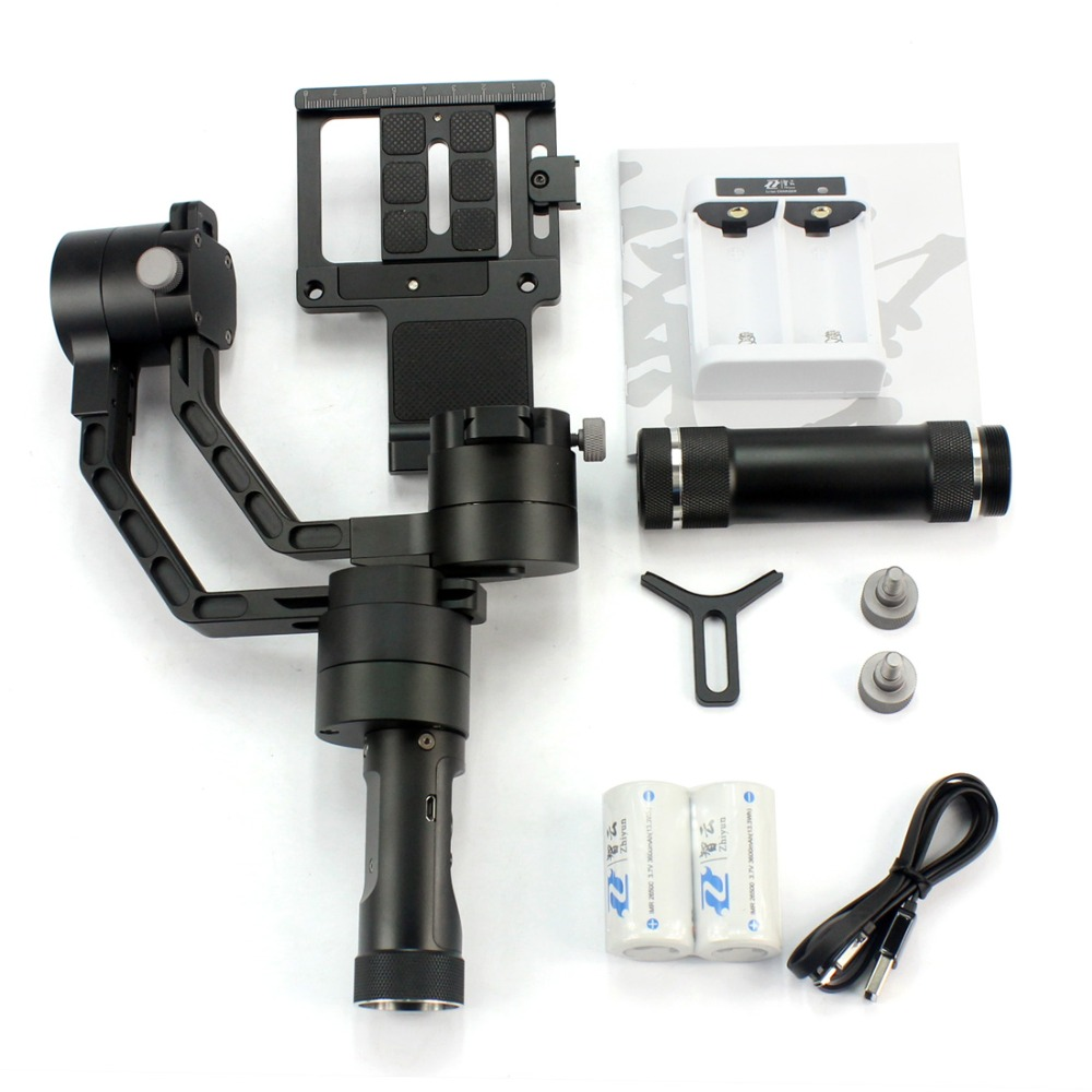 Zhiyun Crane Handheld Stabilizer gimbal for DSLR Canon Cameras Support 1800g with Remote Dual holder And Suitcase F18164