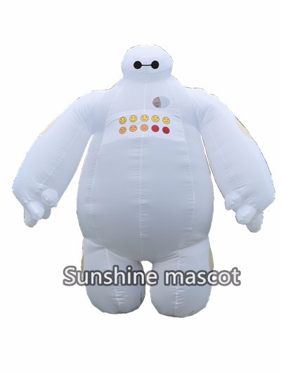 Halloween Big Hero 6 Inflatable  Costume for Women and Men Adult Cosplay Fancy Dress Suit 2m Baymax Mascot