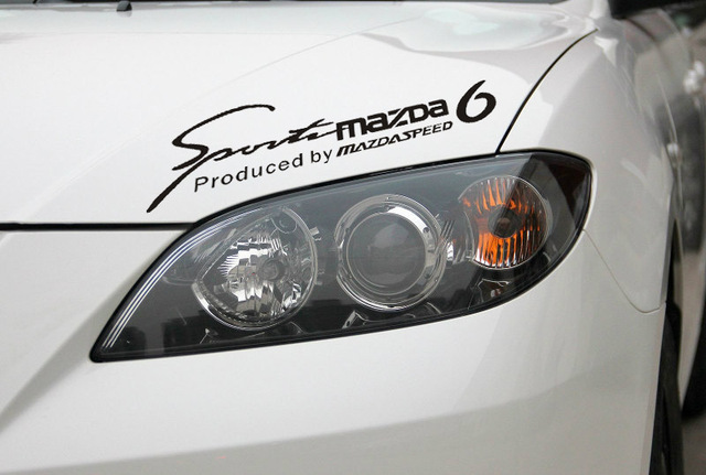 Reflective car covers car lights eyebrow sticker and decal head sticker for mazda 6 2014