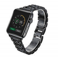 Crystal Diamond Stainless Steel Wrist Strap For Apple Watch 44/42/40/38mm Deluxe Metal Wristband for I Watch Series 4/3/2/1