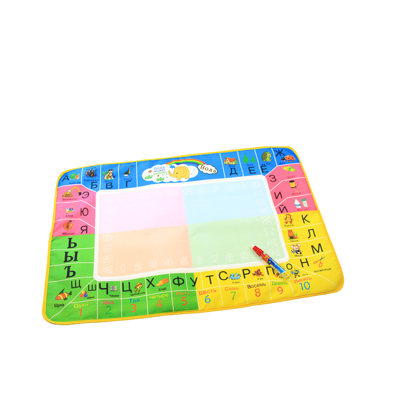 Russian Language Toy Children Learning Creeping Mat Brush Painting Funny Alphabet Mat Learning Education Carpet ABC Toy