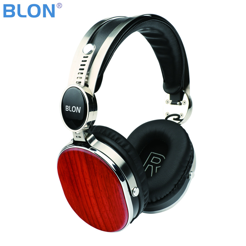 2018 Original BLON KT-HD08BT Bluetooth 4.1V HiFi Wooden Headphone 40mm Speaker Noise Cancelling Headset Free Shipping newest blon b7s hifi wooden headphones 50mm speaker noise cancelling active dj headset