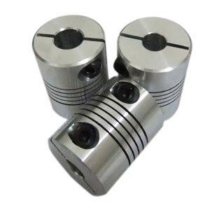 Diameter 25mm Length 30mm Flex Clamp Shaft Coupling Connector 6.35mm to 8mm Shaft Coupler 6*35mm #050150 15mm to 20mm flexible shaft coupler clamp cnc starter shaft coupling connector diameter 50mm length 68mm