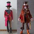 Alice in Wonderland 2 Mad Hatter Cosplay Adulto para Halloween
