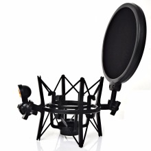 SH 101 Hot Sale Microphone Mic Professional Shock Mount with Pop Shield Filter Screen for short thread microphone