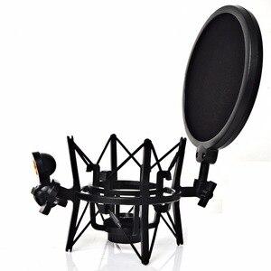 Image 1 - Sh 101 Hot Koop Microfoon Mic Professionele Shock Mount Met Pop Shield Zeef Voor Korte Draad Microfoon