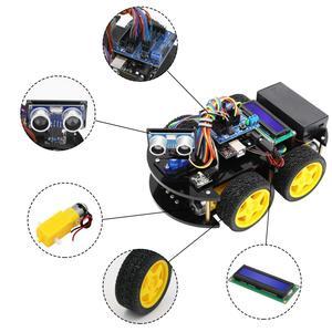Image 4 - LAFVIN חכם רובוט רכב ערכת עם R3 לוח, קולי חיישן, Bluetooth מודול לarduino UNO