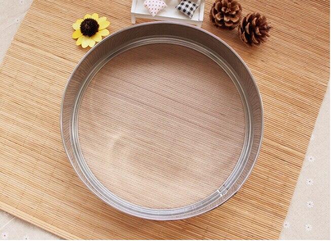 1PC 9 INCH LewaDeal Baking Tools Flour Sieve Stainless Steel Circle Filter 24cm High 5cm 40 Mesh J0567 circle